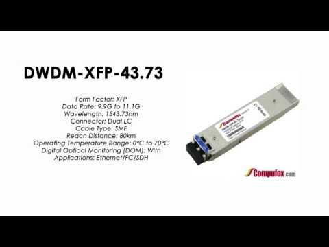 DWDM-XFP-43.73  |  Cisco Compatible 10GBASE-DWDM XFP 1543.73nm 80km