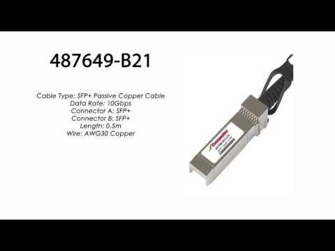 487649-B21  |  HP Compatible BladeSystem C-Class SFP 0.5m 10GbE Copper Cable