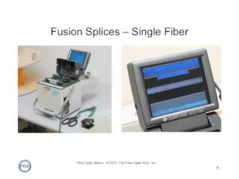 FOA Lecture 6:  Fiber Optic Splices