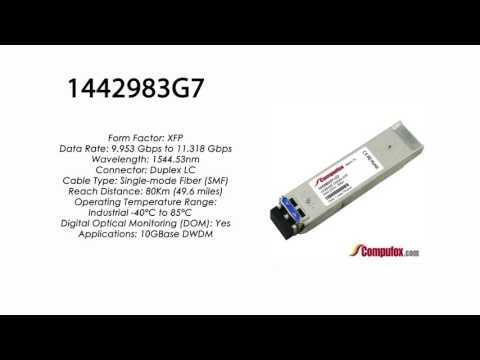1442983G7 | Adtran Compatible 11.3G DWDM XFP 1544.53nm 80km LC