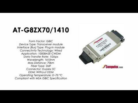 AT-G8ZX70/1410  |  Allied Telesis Compatible 1000Base-CWDM 1410nm 70km GBIC