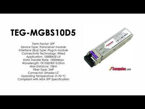 TEG-MGBS10D5  |  TRENDnet Compatible 1000Base-BX Tx1550nm/Rx1310nm 10km SFP