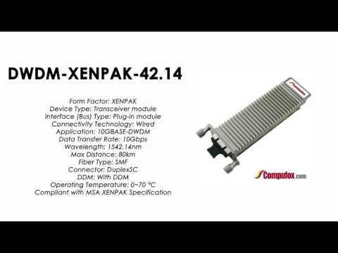 DWDM-XENPAK-42.14  |  Cisco Compatible 10GBASE-DWDM XENPAK 1542.14nm 80km