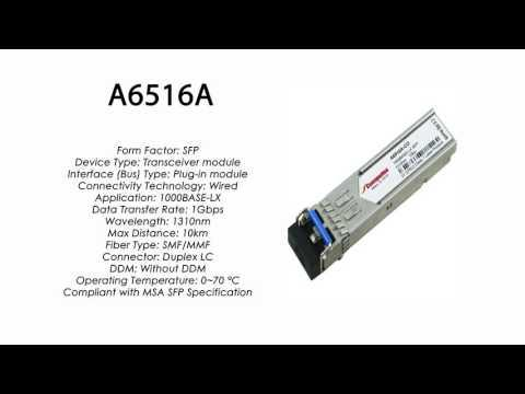 A6516A  |  HP Compatible 1000Base-LX SFP 1310nm 10km