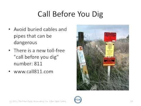 FOA Lecture 2: Safety When Working With Fiber Optics