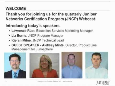 Juniper Networks Certification Webcast - November 2012