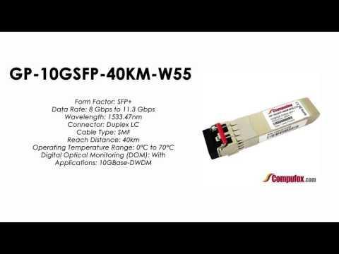 GP-10GSFP-40KM-W55  |  Force10 Compatible 10GBase-DWDM SFP+ 1533.47nm 40km SMF