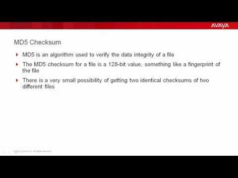 How To Use MD5 Checksum In Avaya Communication Manager