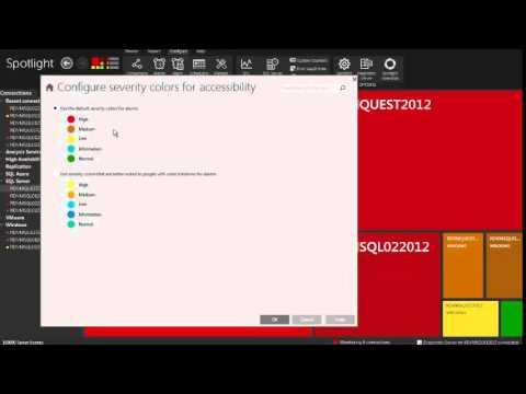 How To Configure The Spotlight Console In Spotlight On SQL Server