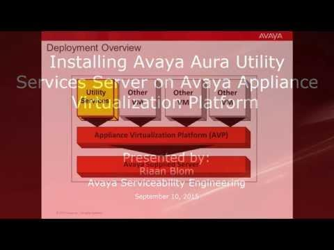 Installing Avaya Aura Utility Services Server On Avaya Appliance Virtualization Platform