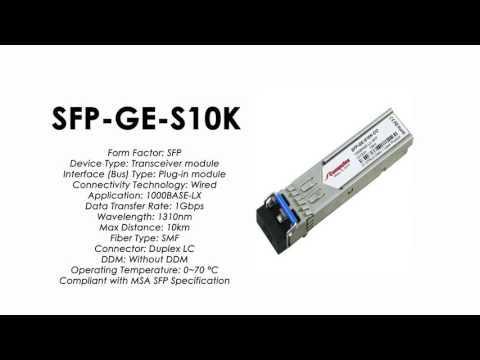 SFP-GE-S10K  |  ZTE Compatible 1000Base-LX SFP SMF 10km 1310nm