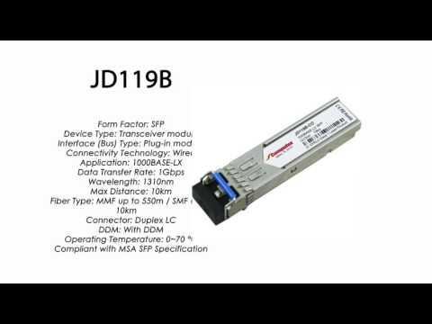 JD119B | HP Compatible 1000Base-LX 1310nm 10km SFP