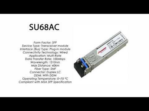 SU68AC  |  Marconi Compatible SFP 100Mbps 1310nm 40km DDM