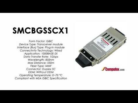 SMCBGSSCX1  |  SMC Compatible 1000BASE-SX 850nm 550m GBIC
