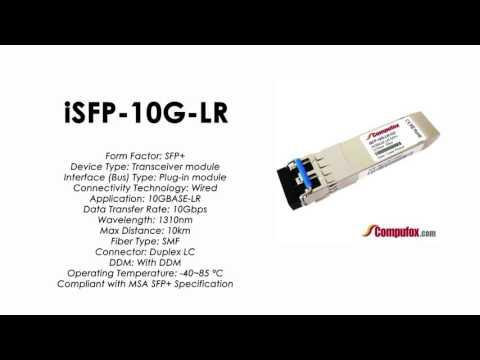 ISFP-10G-LR  |  Alcatel Compatible Industrial 10GBase-LR 1310nm 10km SFP+