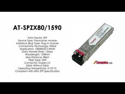 AT-SPZX80/1590  |  Allied Telesis Compatible 1000BASE-CWDM 1590nm 80km SFP