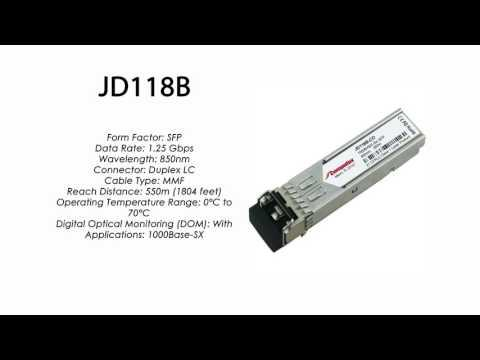 JD118B | HP Compatible 1000Base-SX 850nm 550m SFP