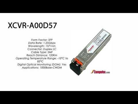 XCVR-A00D57     Ciena Compatible 1000Base CWDM ZXL 120km 1571nm SFP
