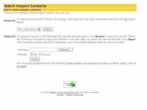 WebEx Site Admin: Add A Company Address Book
