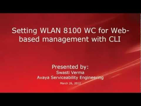 How To Configure An Avaya WLAN 8100 WC For Web-based Management From The CLI