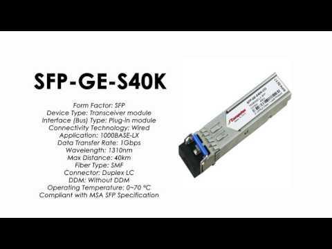 SFP-GE-S40K  |  ZTE Compatible 1000Base-LX SFP SMF 40km 1310nm