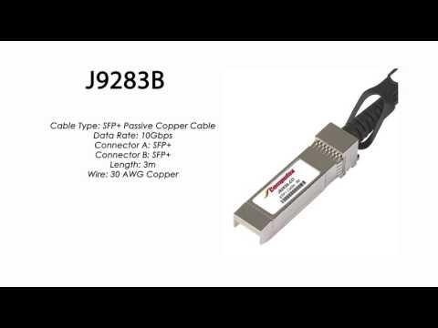 J9283B     HP Compatible SFP+ Passive Copper Cable 3m
