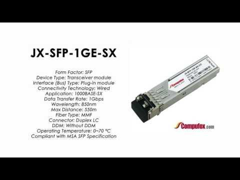 JX-SFP-1GE-SX  | Juniper Compatible 1000BASE-SX SFP 850nm 550m MMF