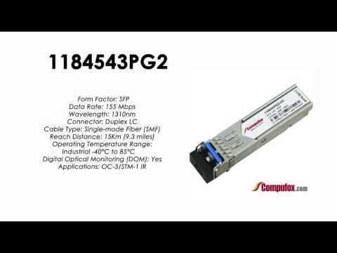 1184543PG2  |  Adtran Compatible OC-3/155Mbps 1310nm 15km SFP