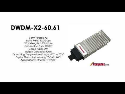 DWDM-X2-60.61  |   Cisco Compatible 10GBASE-DWDM X2 1560.61nm 80km