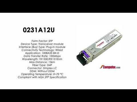 0231A12U  |  Huawei Compatible SFP 100BASE-BXD Tx1550nm/Rx1310nm SMF 15km