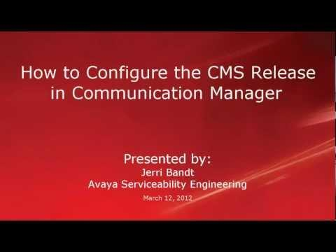 How To Configure The Avaya CMS Release In Avaya Communication Manager