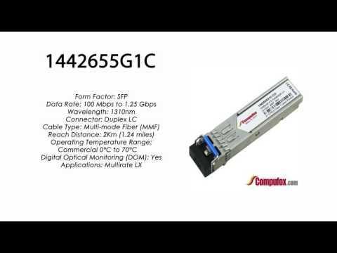 1442655G1C  |  Adtran Compatible 100Base-FX/1000Base-LX 1310nm 2km 1310nm SFP