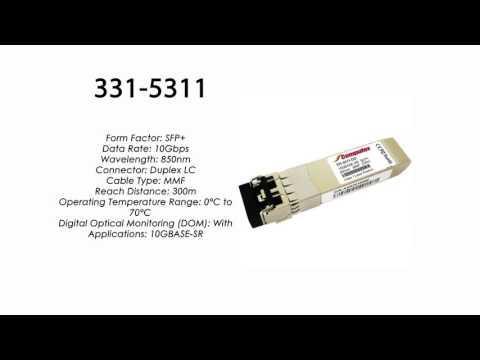 331-5311     Dell Compatible 10GBase-SR SFP+ 850nm 300m