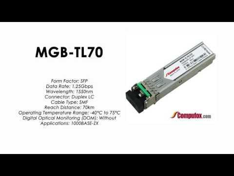 MGB-TL70  |  Planet Compatible 1000Base-LX 1550nm 70km SFP