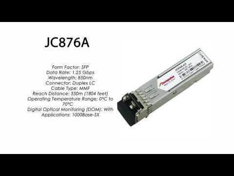JC876A  |  HP Compatible 1000Base-SX SFP 550m 850nm