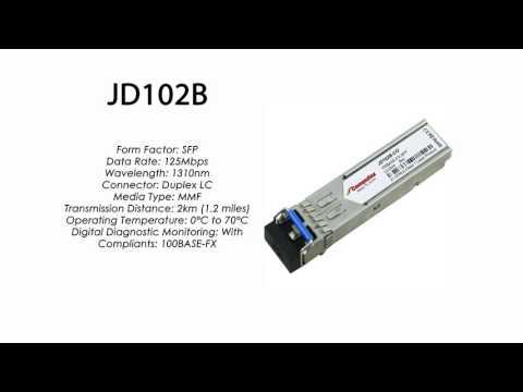 JD102B  |  HP Compatible 100Base-FX SFP 1310nm 2km