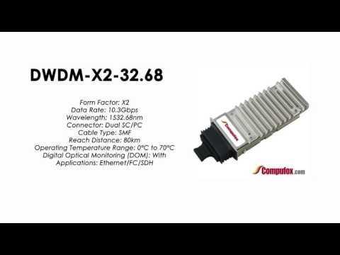 DWDM-X2-32.68  |  Cisco Compatible 10GBASE-DWDM X2 1532.68nm 80km