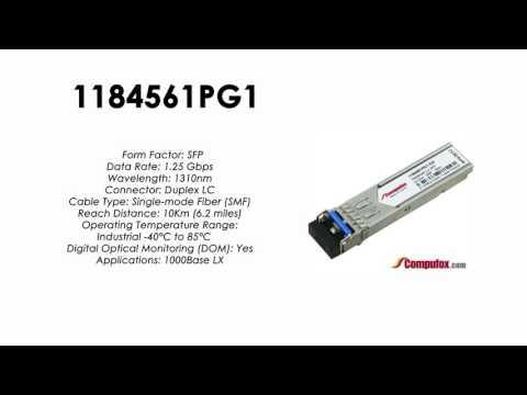 1184561PG1  |  Adtran Compatible 1Gbps 1310nm 10km SFP