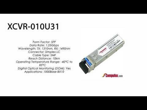 XCVR-010U31     Ciena Compatible 1G SFP SMF Tx1310nm/Rx1490nm 10km
