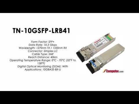 TN-10GSFP-LRB41     Transition Compatible 10GBASE-BX BIDI SFP+, 1270nmTx/1330nmRx SMF 40km
