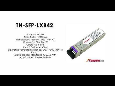 TN-SFP-LXB42 | Transition Compatible 1000BASE-BX SFP 1550nmTx/1310nmRx SMF 40km