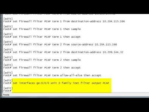 SRX/J Series: How To Create PCAP Packet Capture: Juniper KBTV