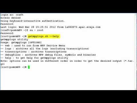 How To Capture MPP Logs On An Avaya Voice Portal Or Avaya Aura Experience Portal