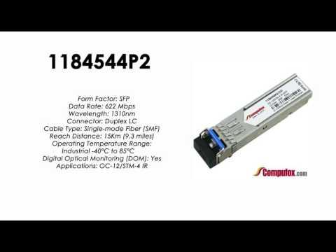 1184544P2  |  Adtran Compatible OC-12 1310nm 15km SFP