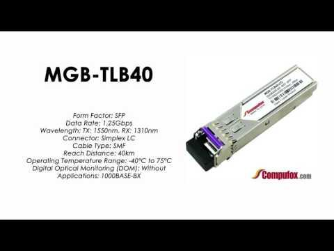 MGB-TLB40  |  Planet Compatible 1000BASE-BX Tx1550nm/Rx1310nm 40km SFP