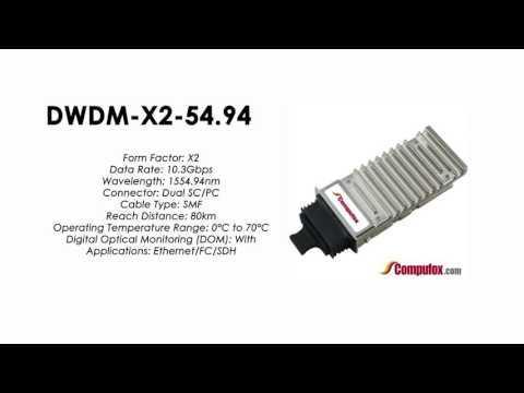 DWDM-X2-54.94  |  Cisco Compatible 10GBASE-DWDM X2 1554.94nm 80km