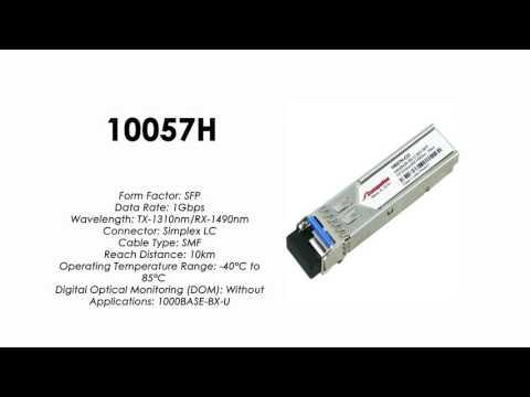 10057H  |  Extreme Networks Compatible 1000BASE-BXU SFP Tx1310nm/Rx1490nm 10km Industrial
