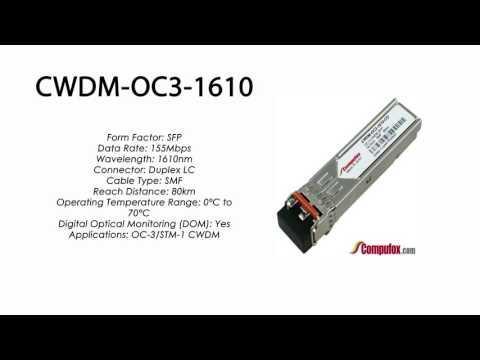 CWDM-OC3-1610  |  Ciena Compatible OC-3/STM-1 CWDM SFP 1610nm 80km