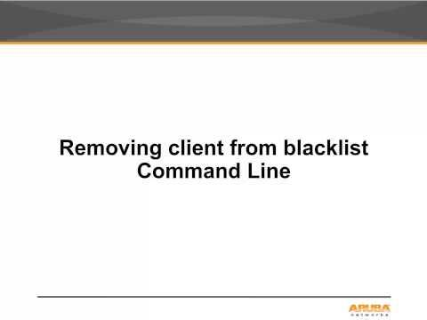 Remove Users From Blacklist Table