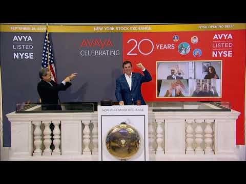 Avaya Holdings Corp. (NYSE: AVYA) Rings The Opening Bell®
